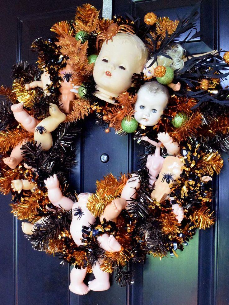 10 funny and cute diy halloween wreaths