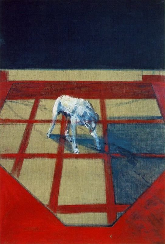 Francis Bacon >> Dog | (Oil, artwork, reproduction, copy, painting).