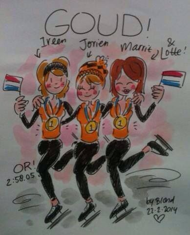 Gold!!! Teampursuit! Olympics 2014