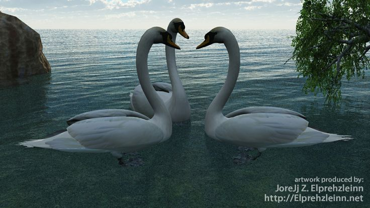 #Swans are a symbol of transformation. They are also a symbol of #Aphrodite.  artwork produced by: JoreJj Z. Elprehzleinn http://Elprehzleinn.net