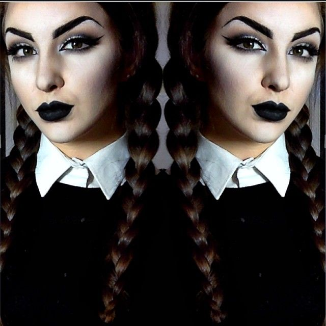 Instagram media by ellie35x - Wednesday Addams Makeup✖️