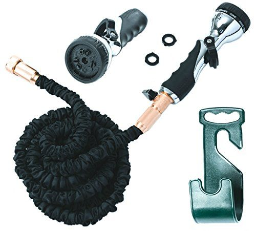 Vela 50ft Flexible Garden Hose - Expandable Heavy Duty Flex Water Hose   Hose Holder and Hose Nozzle w/ 9 Spray Settings - BEST As Seen on TV Kink-Free Garden Hose for Car Washing and Pressure Washing >>> Insider's special review you can't miss. Read more  : Gardening Tools