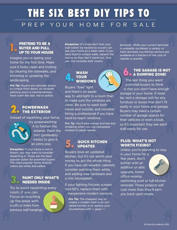 6 Best DIY Tips to Prep Your Home for Sale http://www.timrenshaw.com/2015/07/27/diy-tips-to-prep-your-home-for-sale/