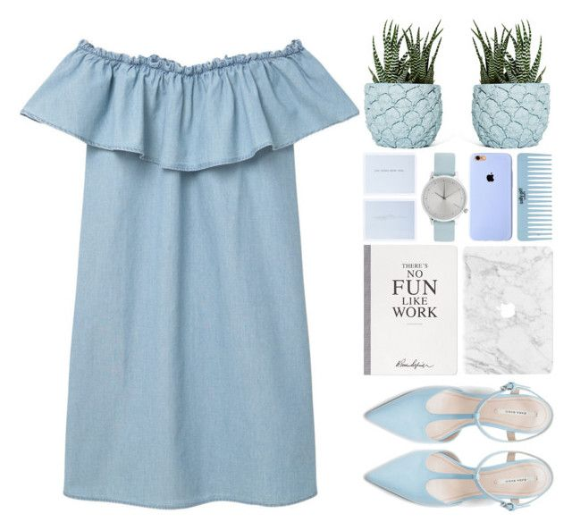 Jess Penner – Blue Bird by owlmarbles on Polyvore featuring MANGO, Zara, Komono, Selfridges and Chen Chen & Kai Williams