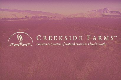 Creekside Farms is a premier designer in today's floral industry. They produce an upscale line of wreaths, garlands and other products for year round decorating. They specialize in exclusive designs for catalog companies and have a distinct line of wreaths perfect for business gift giving, as well as offer a unique line for wholesale and retail customers. Their family owned and operated farm is located in California's Monterey County.