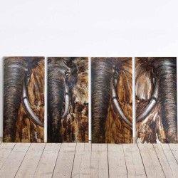 The Big Flock! Nu har du chansen att verkligen lyxa till hemmet ordentligt med en 4-delars handmålad elefant målning! De fina oljefärgerna och mönstren kommer ge dig en varm och hemnära känsla. Vi på feelhome ger denna tavla en 10/10 i Må Bra skala :)!  Länk till produkt: http://www.feelhome.se/produkt/the-big-flock/  #Homedecoration #Canvas #olipainting #art #interior #design #Painting #handpainted #canvastavla #canvastavlor #djur #elefant #natur #flock #Vardagsrum #Kontor #Modernt
