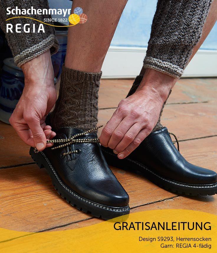 Zur Lederhose und den Haferlschuhen gehören auch zünftige Trachtensocken. Mit unseren rustikalen Herrensocken aus #Regia  können echte Mannsbilder auch ihre Waden zeigen.