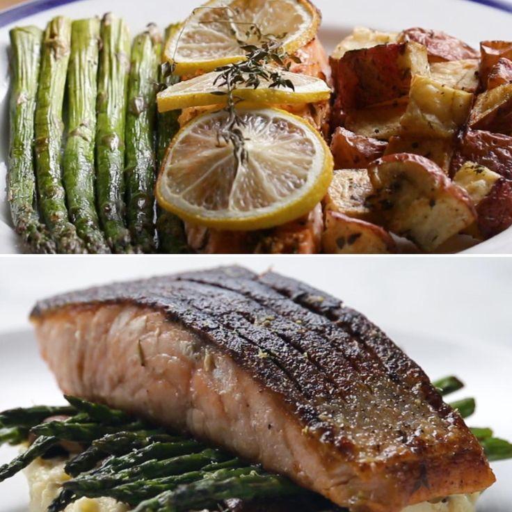 Easy Vs. Gourmet: Salmon Dinner by Tasty