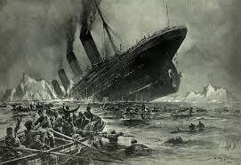 Der Untergang der Titanic.