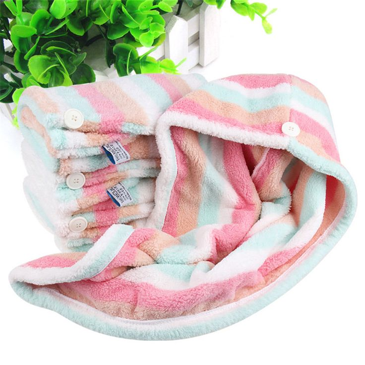 Lady Turban microfiber fabric thickening dry hair hat super absorbent quick-drying hair Shower Colorful Soft Cap Bath towel