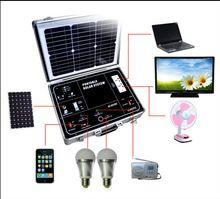 Sustentabilidade Energética Solar Termosolar e Eólica : Maleta com Sistema Solar Fotovoltaico 40W OLYS    ...