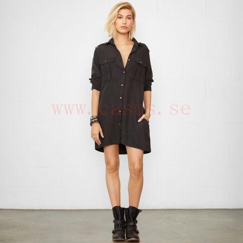 Kvinnor - Militär skjortklänning - Försäljning Klänningar - RalphLauren - Polo Black