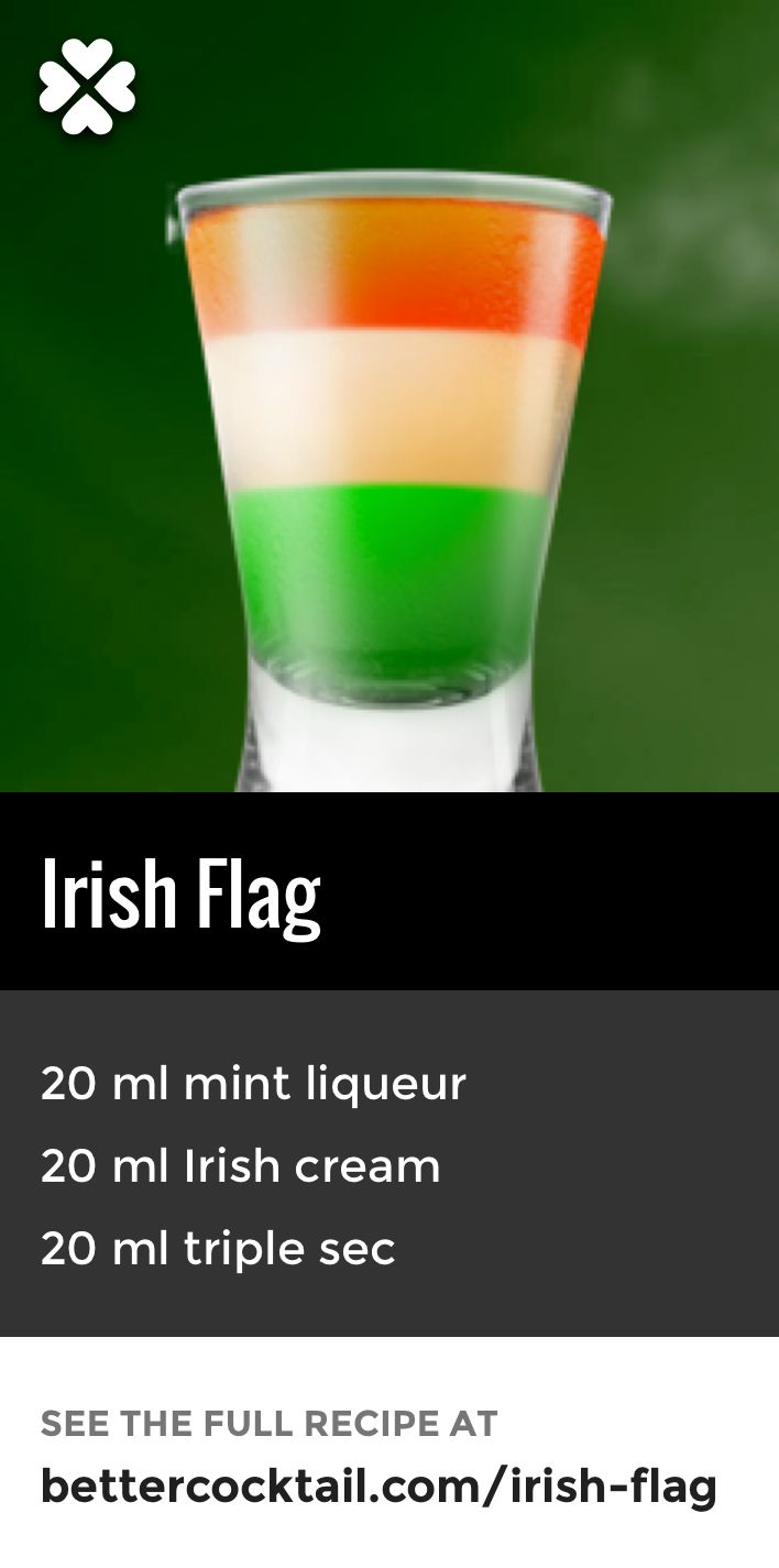 We've curated six perfect Saint Patrick's Day cocktails. Ranging from light, refreshing cocktails to sit back with, to strong shots that are guaranteed to get the party started. Plus they are all easy to make and perfect for impressing your friends when they're over!