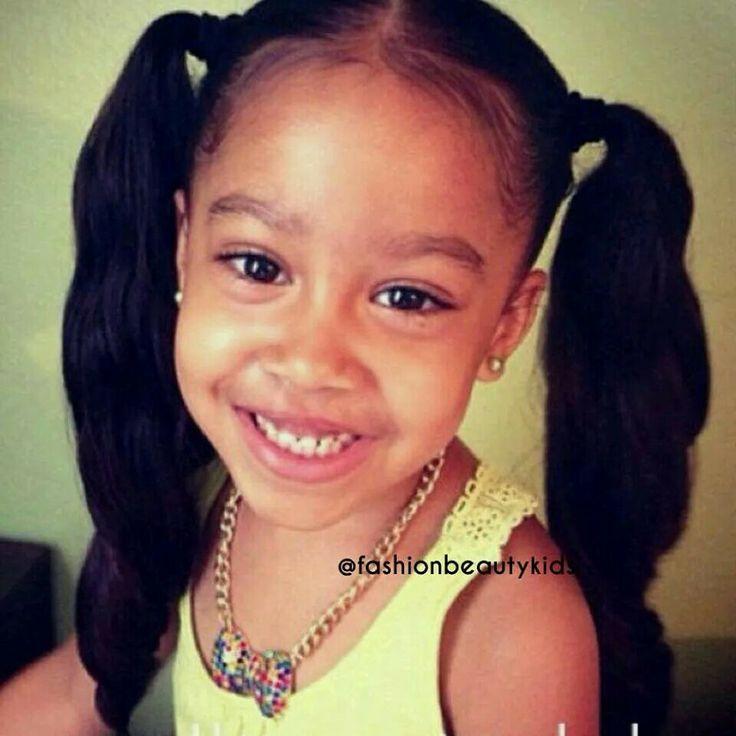 Cute Girl Hairstyles Toddler Hair Pinterest Negro