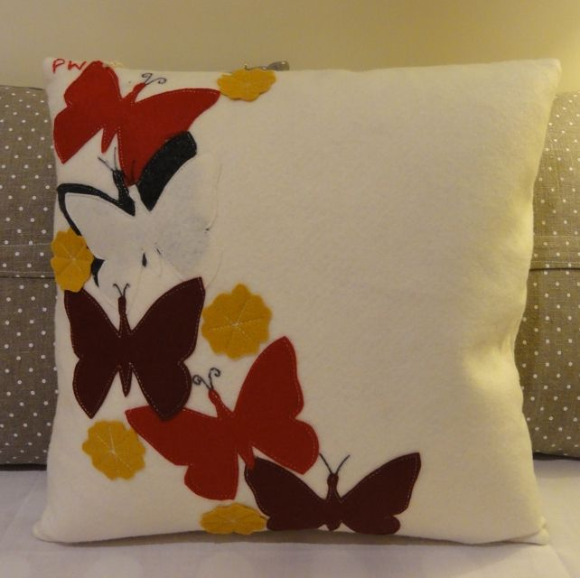 Handmade wool felt cushion