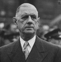 Charles André Joseph Marie de Gaulle (audio[?·info]) (Lilla, 22 novembre 1890 – Colombey-les-deux-Églises, 9 novembre 1970) è stato un generale e politico francese. Dopo la sua partenza per Londra nel giugno del 1940, divenne il capo della Francia libera, che ha combattuto contro il regime di Vichy e contro l'occupazione italiana e tedesca della Francia durante la seconda guerra mondiale.