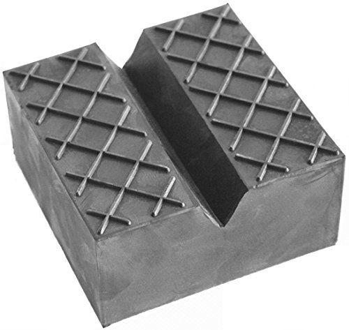 Gummiauflage 100x100x50mm mit V-Nut & Waffel für Wagenheber und Hebebühnen - http://autowerkzeugekaufen.de/gummiprodukt/gummiauflage-100x100x50mm-mit-v-nut-waffel-fuer