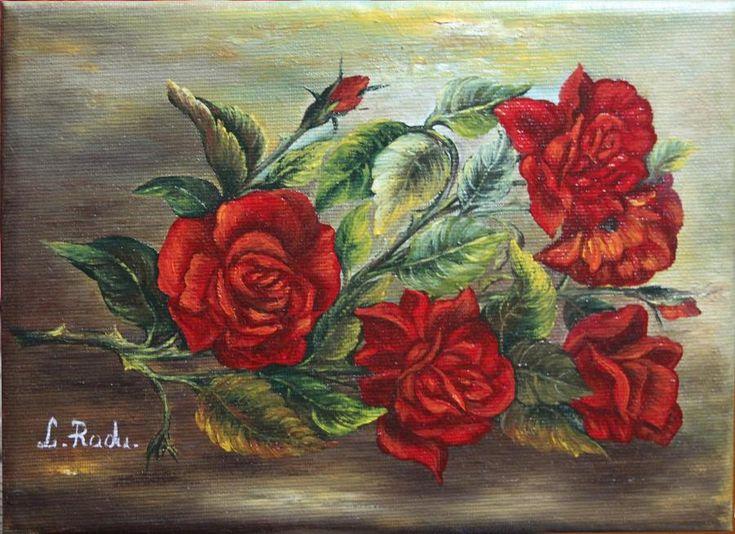 Un Trandafir cu Spini. Tablou de Radu Liliana