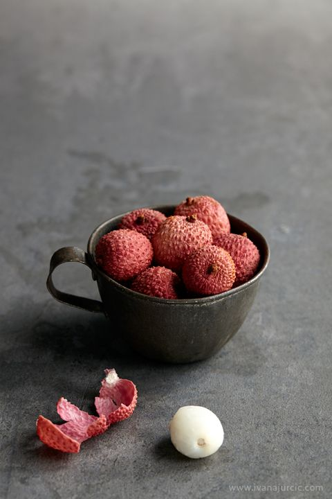Lychees! I remember the first one I ate in Chinatown in London. No other fruit like it.