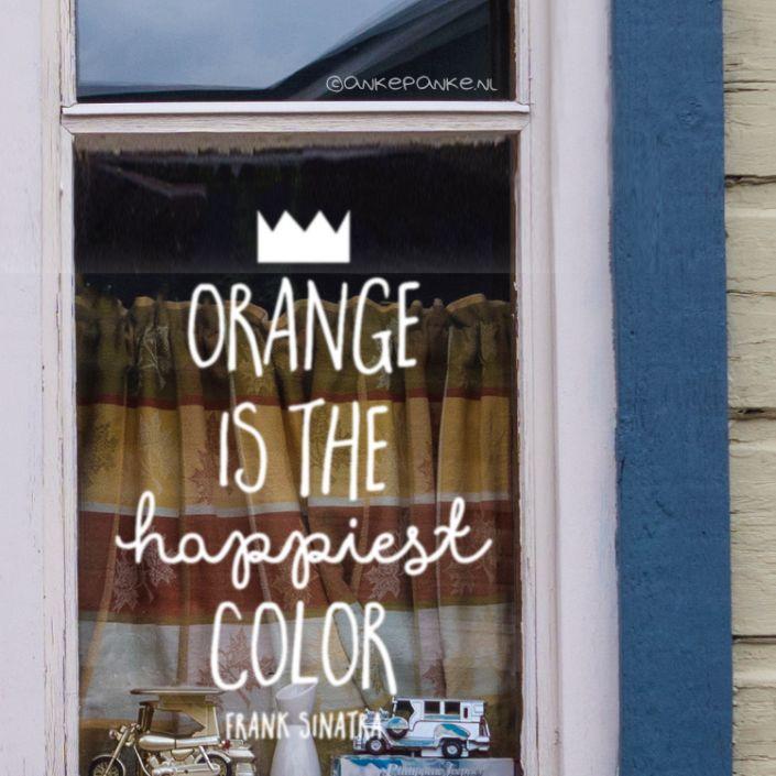 Orange is the happiest color quote raamtekening Orange is the happiest color quote raamtekening
