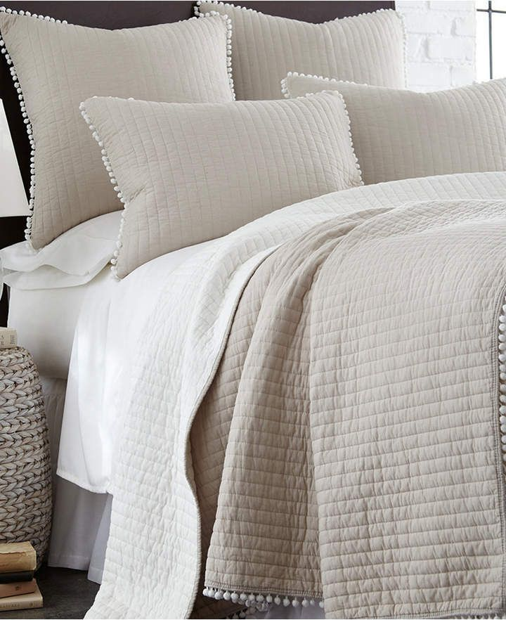 Levtex Home Pom Pom Taupe Twin Quilt Reviews Quilts