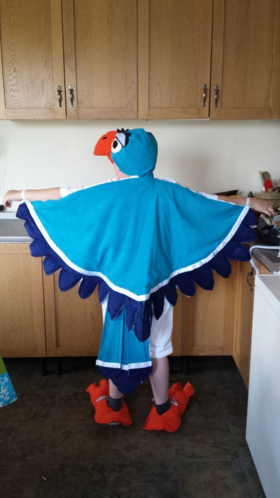 "ZaZu Costume I made for my son's school play 2013 ""the Lion King""  Not bad for 24 hours Notice LOL!:"