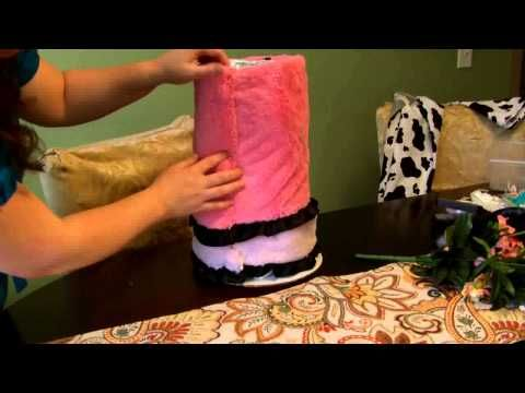 How to make a Diaper Cake - Dress for baby shower