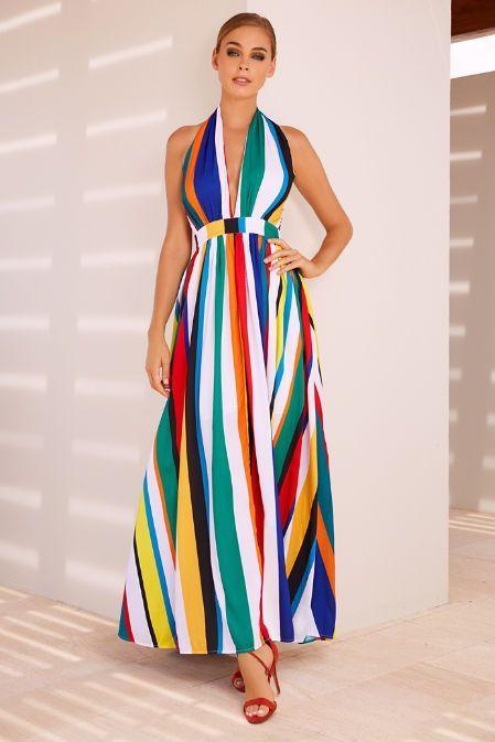 Vestido Queridinho Listras Com MomentoVestidos ColoridasO Do OPkXwZiuT