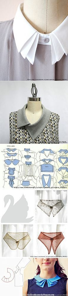 В копилку портнихе: Воротнички, моделирование одежды и прочее...