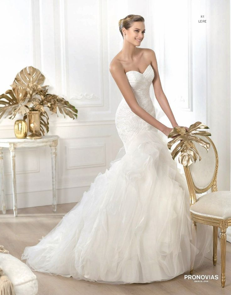 Nice Pronovias Leire Collection Wedding Dress on Sale Off