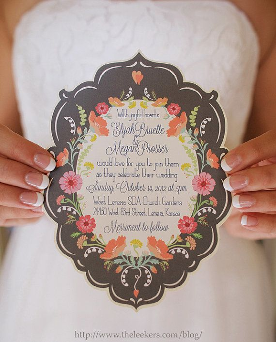 Start the season of celebration with a gorgeously detailed invitation.