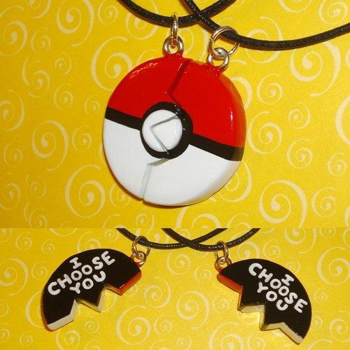 A great gift for that special gamer in your life you secretly have a crush on, or the perfect way to show your significant other that they have caught your heart, this set of engraved Pokeball Friends
