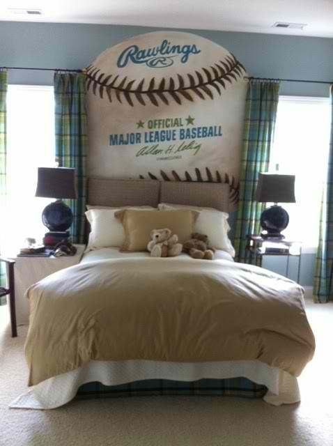Huge Baseball Painted On Wall Love This Idea KBHome