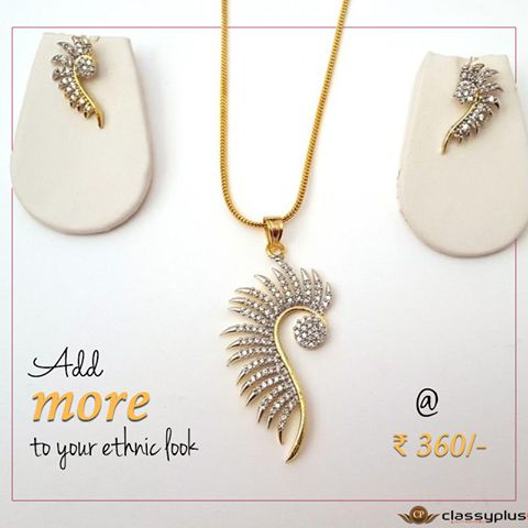 Add more to your #Ethnic look. #Classyplus #OnlineShopping #Woman #Necklace #Jewelry #Gifts https://goo.gl/asOjk3