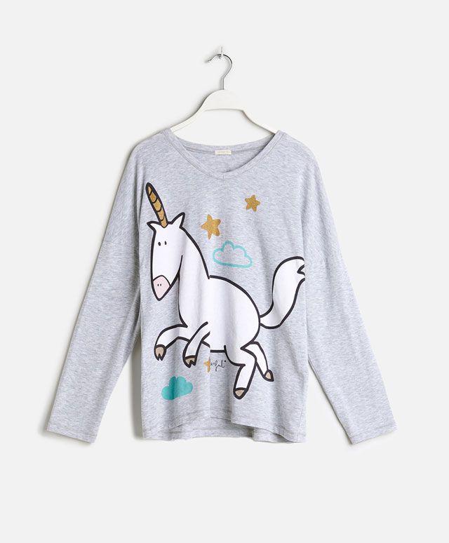 Camiseta unicornio Mr. Wonderful - OYSHO