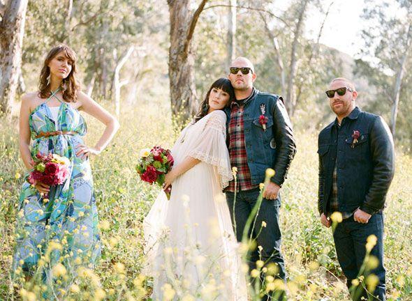 Country biker wedding