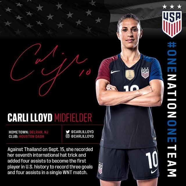 Carli Lloyd scored 17 goals and added 11 assists... in only 21 games. #MakingTheCase for Player of the Year. Read more on ussoccer.com.