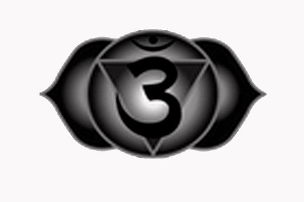 Tatuaje chakra tercer ojo