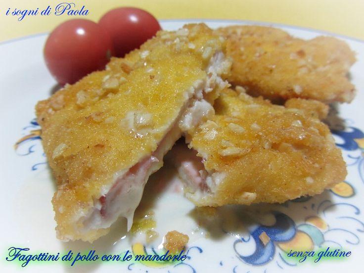 Fagottini di pollo con le mandorle, senza glutine. Buoni e senza glutine!