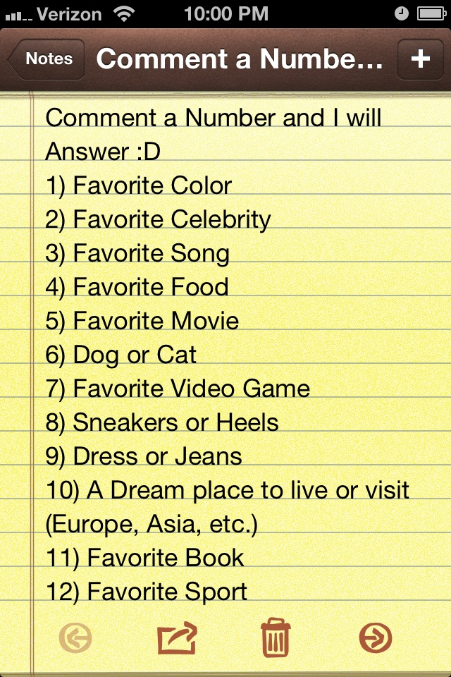Comment! I will answer!
