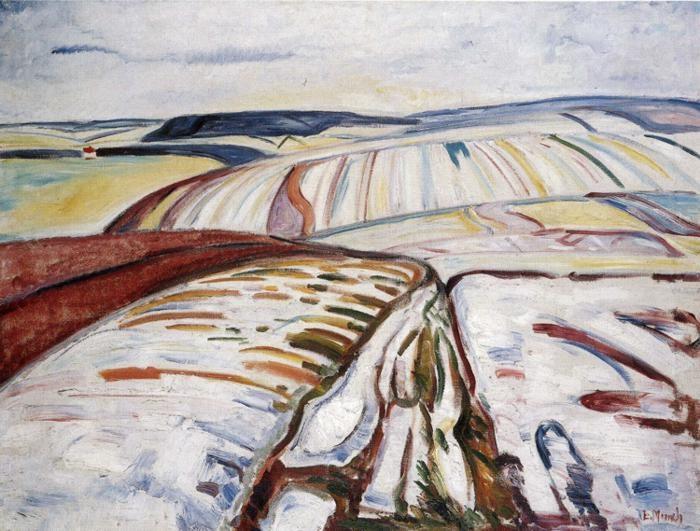 Munch, Paesaggio invernale,Elgersburg (1906) Munch Museum, Oslo, Norvegia
