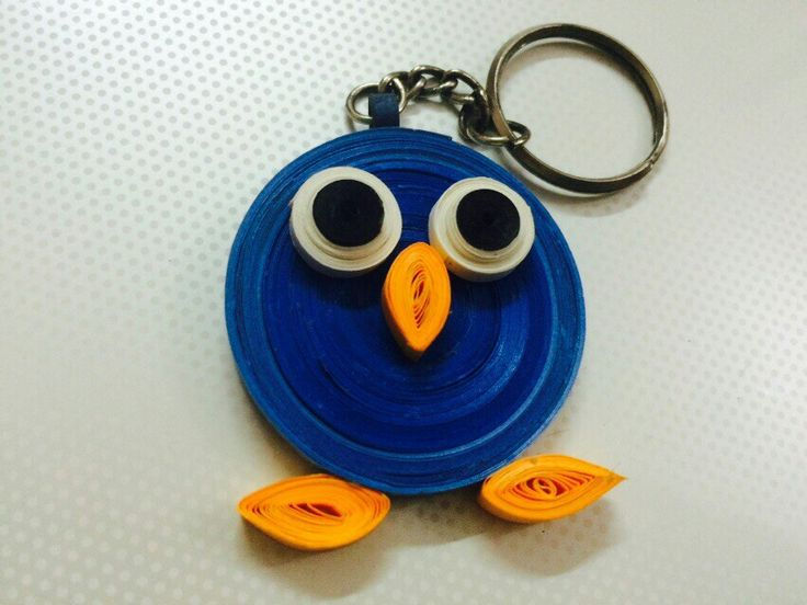 Paper quilling ..keychain @chahalvaid