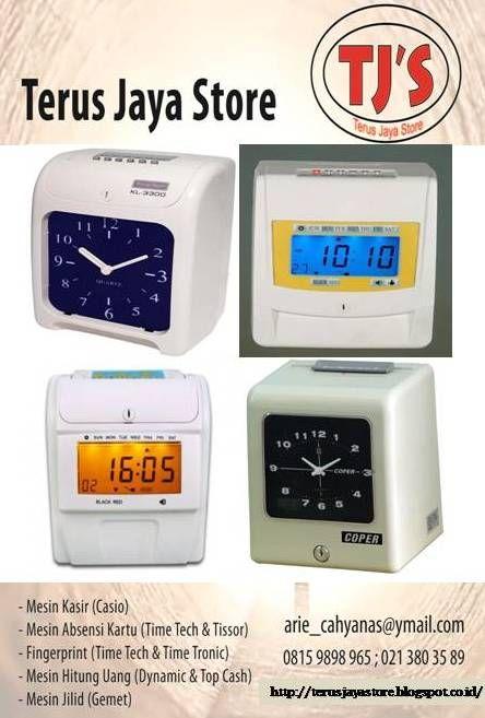 Electronic Time Recorder (Median Absensi Kartu) :  Merk & Type :  - Time Tech KL 3300  - Time Tech KL 6600  - Cooper S 300   Terus Jaya Store Arie Cahyana  Hp: 0815 9898 965  Email : arie_cahyanas@ymail.com   Web      : http://www.google.com/+TerusJayaStoreArieCahyana/   Blog     : http://terusjayastore.blogspot.com/         Facebook : https://www.facebook.com/groups/TerusJayaStore/   #cashregister #mesinkasir #restaurant #casio #cashdrawer #kasir #register #rumahmakan #electronic