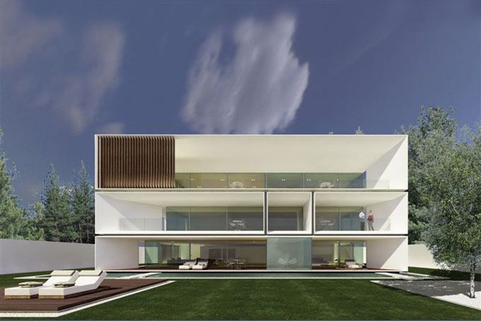 "squared+: Runkelsteiner Villa by JM Architecture. I love the way each level ""floats"" above the lower level"