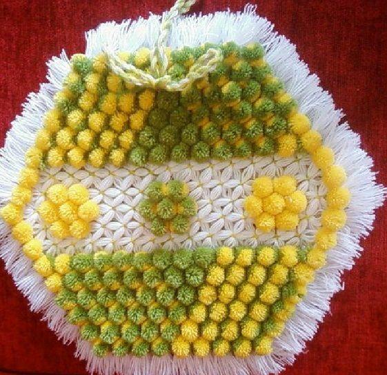 yeşil sarı ponponlu muhteşem sakallı 2013 çeyizlik lif modeli