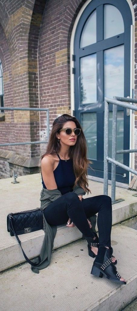 edgy casual outfit
