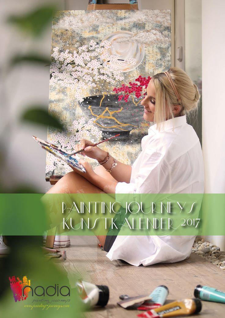 Kunstkalender Kunst 2017 Painting Journeys Reisen Nadia Schreiner Geschichten Sprüche