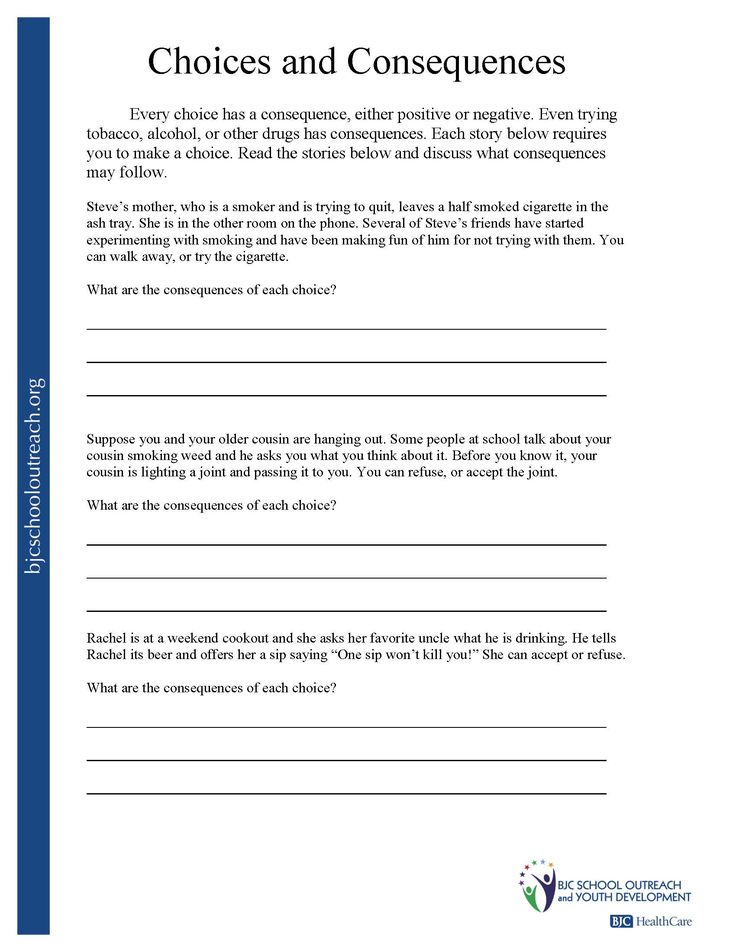 Worksheets Choices And Consequences Worksheet 41 best images about yvonne lee on pinterest negative people making the right choices worksheets google search