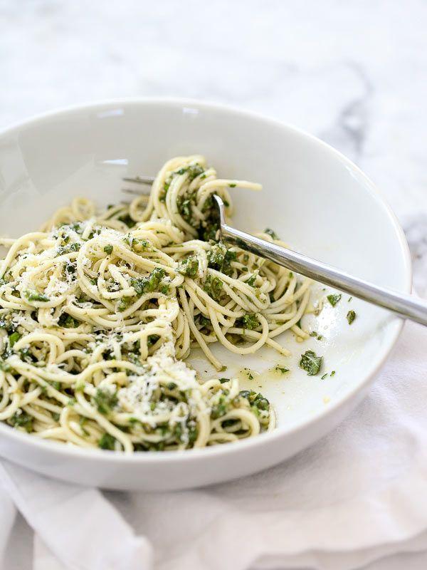 Pesto Pasta Recipe #recipe on foodiecrush.com