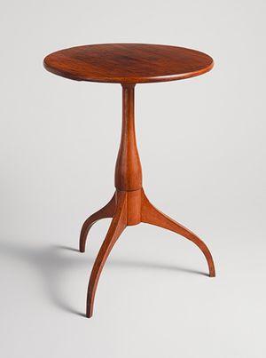 New Lebanon, Shaker Candle stand [American] ca 1800-40.  The Metropolitan Museum of Art  #GISSLER #interiordesign